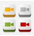 square button video vector image