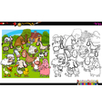 dog breeds coloring page vector image vector image