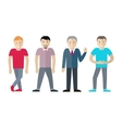 Set of Men Different Age and Status vector image vector image