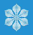 figured snowflake icon simple style vector image vector image
