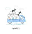 Tourists vector image vector image