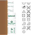 Collection of clothing and Laundry labels vector image vector image