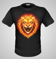 Male tshirt with lion print vector image