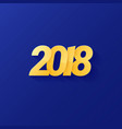 2018 text new year vector image