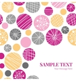 abstract textured bubbles frame corner vector image vector image