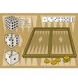 backgammon vector image vector image