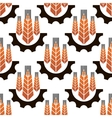 Wheat ears in gear wheels seamless pattern vector image vector image