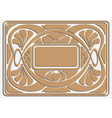 Frame like Art Nouveau vector image