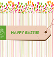 Happy Easter Card Easter egg vector image vector image