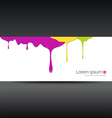 Banner colorful paint dripping vector image