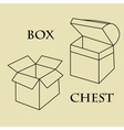 Box chest pattern vector image