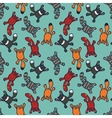 Bright seamless pattern with cute cartoon cats vector image
