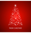 Christmas tree from stars Merry Christmas vector image