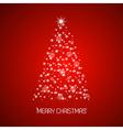 Christmas tree from stars Merry Christmas vector image