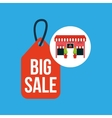 cute store shopping big sale vector image