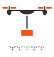 Drone shipment flat icon vector image