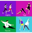 flat or fitness sport vector image