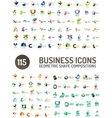 Geometric abstract composition icons Modern paper vector image