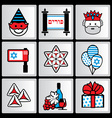Purim ikons vector image