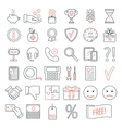 Set of linear web design icons Modern line icons vector image