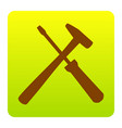 tools sign brown icon at vector image