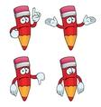 Sad cartoon pencils set Vector Image