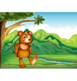 An animal playing near the mountain vector image vector image
