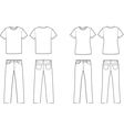 T shirt and jeans vector image