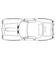 Car icon outline silhouette auto symbol line vector image
