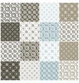 brown and blue seamless patterns with circles vector image