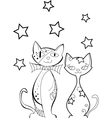 Set of cats silhouettes vector image vector image