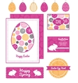 abstract textured bubbles set of Easter vector image