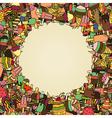 ice cream in waffle cones Background vector image