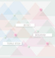 abstract triangle pattern background trendy vector image