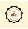 Barbecue label vector image