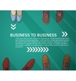 Business frame and background group businessmen vector image