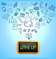 Business morning composition vector image