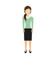 businesswoman avatar vector image