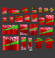Christmas light background with corporate identity vector image