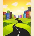 city road vector image