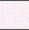 different heart shape pattern design vector image