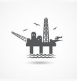 Oil platform icon vector image