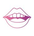 pop art lips icon vector image