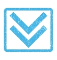 Shift Down Icon Rubber Stamp vector image