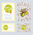 set of wedding cards invitations for a vector image