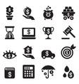 investment bonus financial business icon set vector image