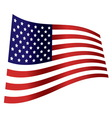 american flag wave independence day vector image