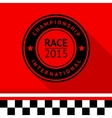 Racing stamp-05 vector image