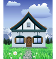 mountain chalet vector image vector image