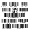 Barcodes set vector image vector image